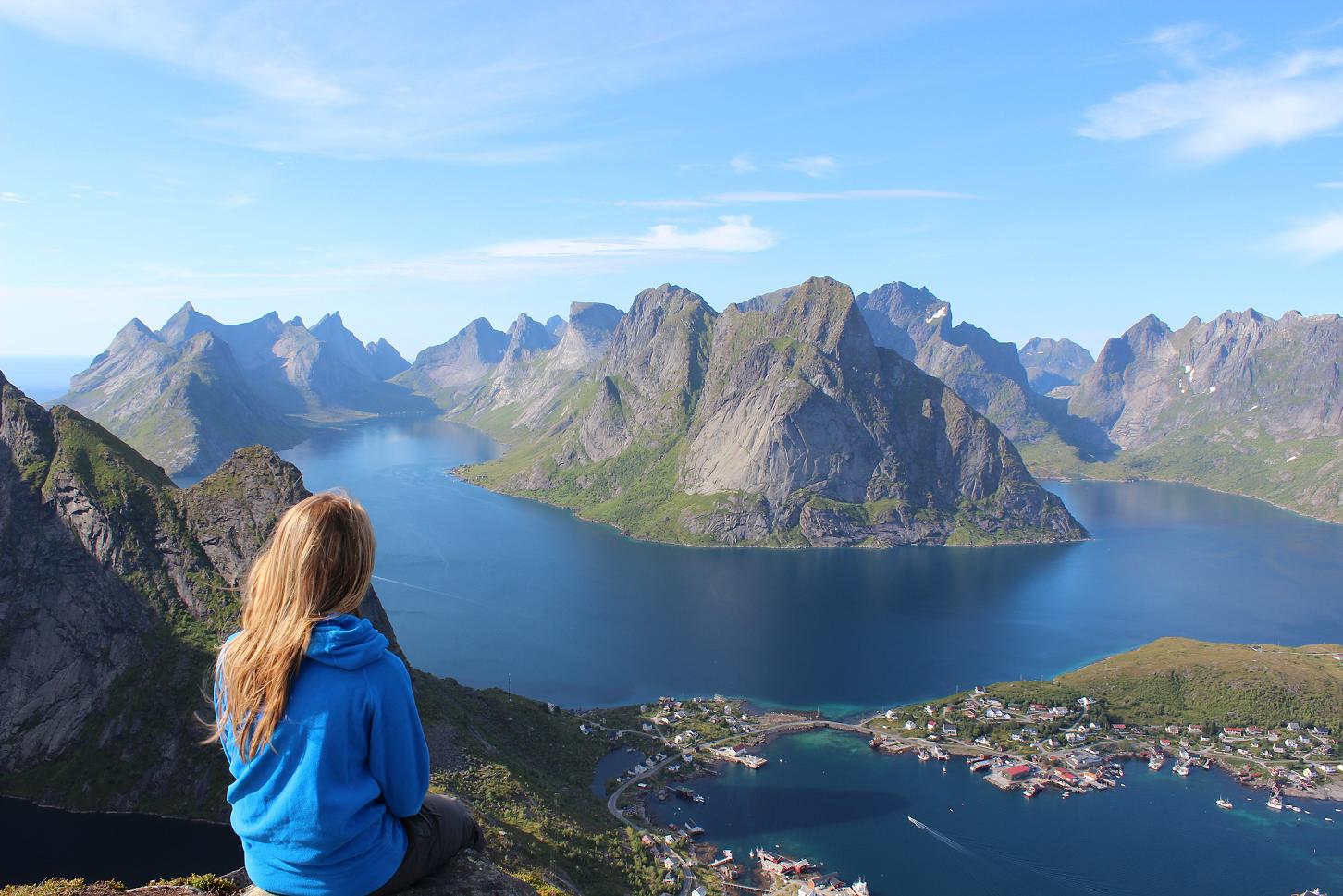 relaksujący krajobraz, góry, jezioro